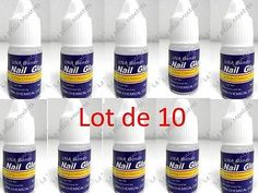 Colle pour ongle - Lot de 10 - Nail Art - Strass - Faux Ongles - Manucure