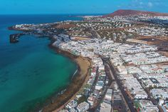 Traveling in Lanzarote - Playa Blanca from the sky - Drone Canary Islands, Sicily, Old Photos, City Photo, Traveling, Sky, Old Pictures, Viajes, Heaven