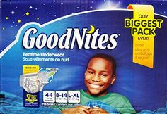 Goodnites Bedtime Underwear Boys, Size L-XL, 44 CT Review