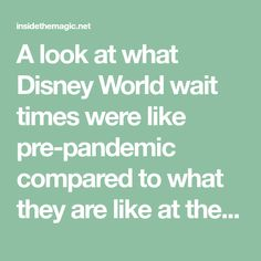A look at what Disney World wait times were like pre-pandemic compared to what they are like at the theme parks now. Get the details. Disney World Theme Parks, Walt Disney World, Disney World Wait Times, Disney Cast Member, Disney Disney, Hollywood Studios, Free Quotes, For Stars, Magic Kingdom