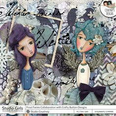 Frost Fairies Collaborative Kit With Studio Crafty Button Design by Studio Courtney