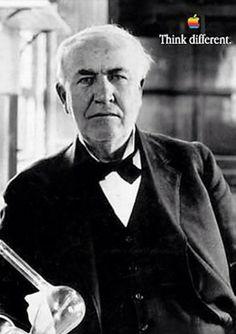 Thomas Edison #inspiration #apple #campaigns #advertising #classic #greatads  #thinkdifferent #thomasedison #edison #kirk