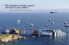Costa Concordia Sinking Map