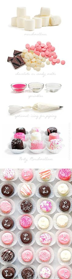 41 Trendy Ideas For Cake Pops Diy Marshmallow Treats Chocolates, Snacks Für Party, Party Treats, Candy Table, Candy Buffet, Pink Parties, Birthday Parties, Diy Birthday, Birthday Cake