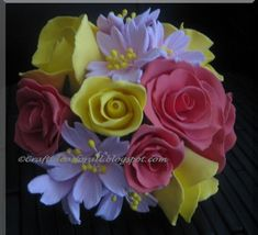 I have made clay flowers and gifted them to many of my friends but somehow never made one for my parents. They are visiting soon and I thoug. Porcelain Clay, Cold Porcelain, Polymer Clay Flowers, Air Dry Clay, Clay Tutorials, Fondant, Cherry Blossoms, Crafty, Parents