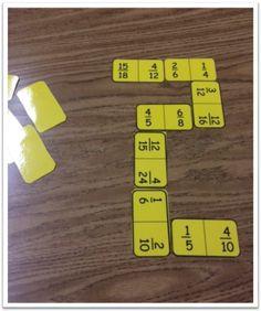 Teaching fractions, fourth grade math, teaching math, en maths, fraction ga Fractions Équivalentes, 4th Grade Fractions, Teaching Fractions, Fifth Grade Math, Equivalent Fractions, Teaching Math, Teaching Ideas, Fourth Grade, 5th Grade Math Games