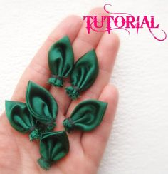 PDF Elegant Fabric Leaf Tutorial for Flower Boutiques, Hair Accessories