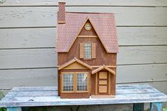 Vintage Dollhouse Wood Dollhouse Dollhouse by UnderTheSycamores