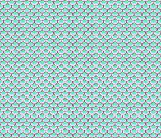 Mermaid Scales - Dream fabric by pi-ratical on Spoonflower - custom fabric