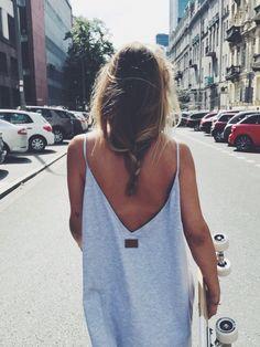 Grey dress. Backless shameless. Beautiful.    #MUUV #polishbrand