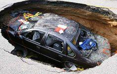 Motor munching sinkhole
