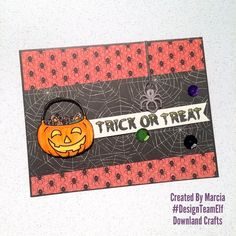 Trick Or Treat Clear Photopolymer Stamp Set Card Sample Trick Or Treat, Elves, Card Making, Paper Crafts, Stamp, Treats, Crafty, Halloween, How To Make