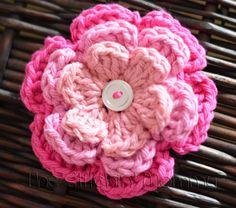 Custom Crochet Flower Hair Clip