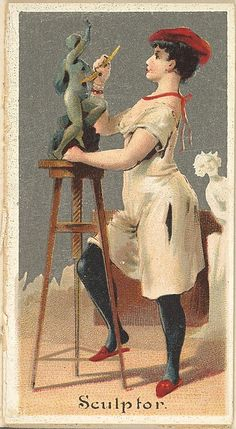 Sculptor, from the Occupations for Women series (N166) for Old Judge and Dogs Head Cigarettes