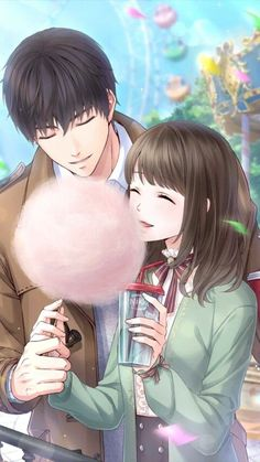Anime Boy and girl Couple Anime Manga, Romantic Anime Couples, Anime Couples Drawings, Anime Love Couple, Anime Couples Manga, Kawaii Anime, Anime Cupples, Anime Guys, Anime Love Story
