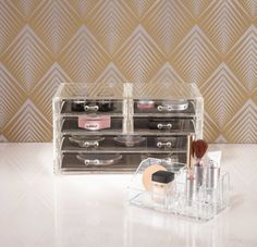 The Allure range  is a wonderful storage and display solution for all of your cosmetics and accessories.  The Deluxe Drawer Chest is made from high quality, clear acrylic and is a stylish addition to your bedroom. Available from Howards Storage.