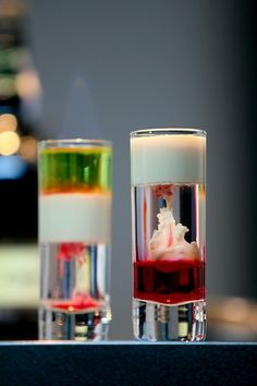 Two shooters - the Brain Haemorrhage and the Hiroshima | ScienceOfDrink.com | #shooter #schnapps #omg