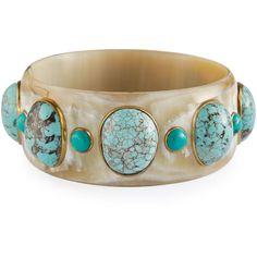 Ashley Pittman Michezo Light Horn & Turquoise Bangle ($995) ❤ liked on Polyvore featuring jewelry, bracelets, jewelry bracelets, turquoise, horn jewelry, bangle jewelry, turquoise bangle bracelet, ashley pittman jewelry and turquoise jewelry