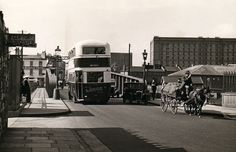 The Swing bridge, Merchant's Road, 1920's. The Nova Scotia in the background.