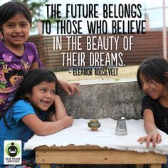 Do you dream of a world where every person is treated fairly? Then make your purchases matter. #FairTrade