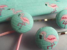 Flamingo* Haarspange und Haargummi von Happy Lilly auf DaWanda.com