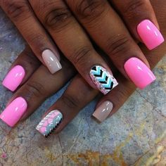 Neon pink with neutral pop!