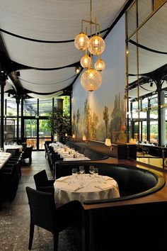 La Gare, Paris. Top Restaurant Decor Ideas! Get yours here or see also: http://www.brabbu.com/en/inspiration-and-ideas/