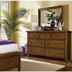 Aspen Home Cross Country Dresser with Mirror