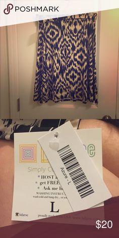Patterned Azure Skirt Brand new, NWT and never worn Azure skirt. LuLaRoe Skirts Midi
