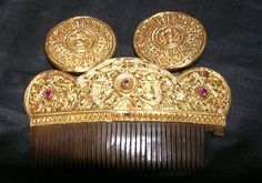 Antique Indian jewelry -- hair piece!