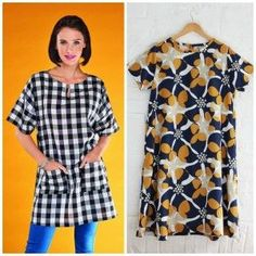 Free Sewing Patterns: Orla Dress & Agnes Tunic Templates.UK Sizes S-XL Dress And S-L Tunic. http://www.sewmag.co.uk/templates/orla-dress-agnes-tunic-templates