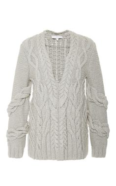 Cut Out Cable Knit Sweater by NELLIE PARTOW Now Available on Moda Operandi