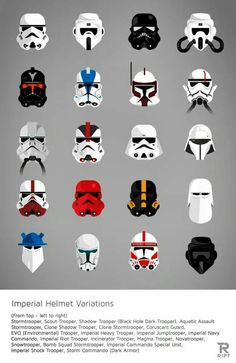 Imperial helmet variations