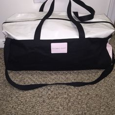 VS duffle bag Pink. Black. White. VS Duffle Bag. Used 1x Victoria's Secret Bags Travel Bags