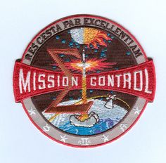 space mission patches | nasa mission control patch apollo nasa mission control patch the patch ...