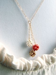 Dainty Beaded Balls Necklace- would be cute with matching earrings!