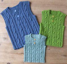 Billedresultat for strikket vest baby Crochet For Boys, Knitting For Kids, Baby Knitting, Crochet Baby, Knit Crochet, Baby Cardigan Knitting Pattern, Lace Knitting Patterns, Remake Clothes, Kids Vest
