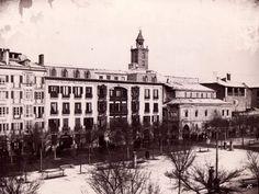 Vista de la parroquia de San Nicolás en el Paseo de Sarasate a principios del s. XX