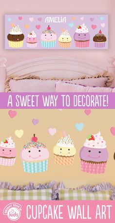 Put Amazing Cupcakes On Your Wall These Lovely Tiles Will Sweeten - Can i put a wall decal on canvas