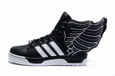 promo code 0c222 1b8d9 Jeremy Scott Wings Adidas JS Wings II Hommes et Femmes Chaussures Noir Blanc