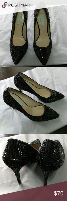 Betsy Johnson shoes Used only once for special occasion Betsy Johnson Shoes Heels