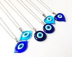 Turkish Greek Eye Bead Nazar Connector Glass Pins Jewellry Charm Heart Shaped 95 Pcs Evil Eye Pins