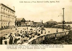 Plaza Mariscal Castilla y Calle Malecón, alrededor de 1886