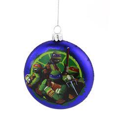 TMNT Ninja Turtles Kurt Adler Glass Ornament