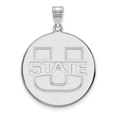 925 Sterling Silver Officially Licensed Utah State XL Disc Pendant. Genuine Sterling Silver Metal with Authentic Stamp. Officially Licensed Product. 925 Sterling Silver. Free Gift Box with Every Purchase. 30 day No Haggle Stress Free Returns.