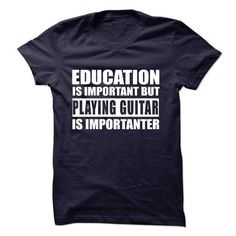 PLAYING GUITAR is importanter - #baseball tee #cropped hoodie. TAKE IT => https://www.sunfrog.com/Music/PLAYING-GUITAR-is-importanter.html?68278