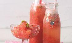 Spritzige Sommer-Granità                              -                                  Erfrischende Granita mit Wassermelone und Nektarinen aufgießen mit Sekt oder Prosecco