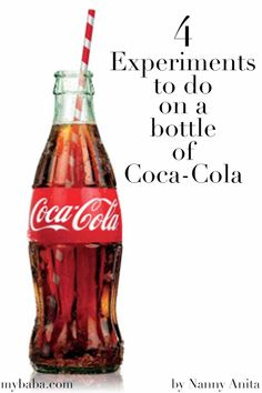 4 coca cola experiments to do that are both gross and really cool. Stem Activities, Activities For Kids, Kid Experiments, Hot Sauce Bottles, Coke, Fun Things, Coca Cola, Homeschooling, Atlanta