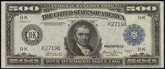 1918 500 Dollar Federal Reserve Note John Marshall