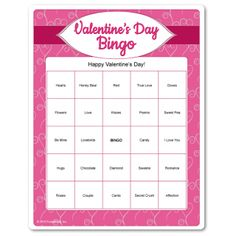 make your own valentine's day bingo
